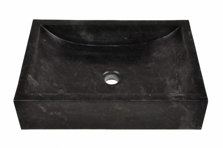 Umywalka nablatowa czarna